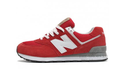 574 КРОССОВКИ МУЖСКИЕ<br/> NEW BALANCE 574 RED BRIGHT GRAY WHITE