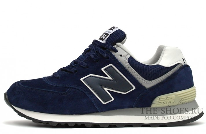 Кроссовки New Balance 574 Dark Blue Gray White