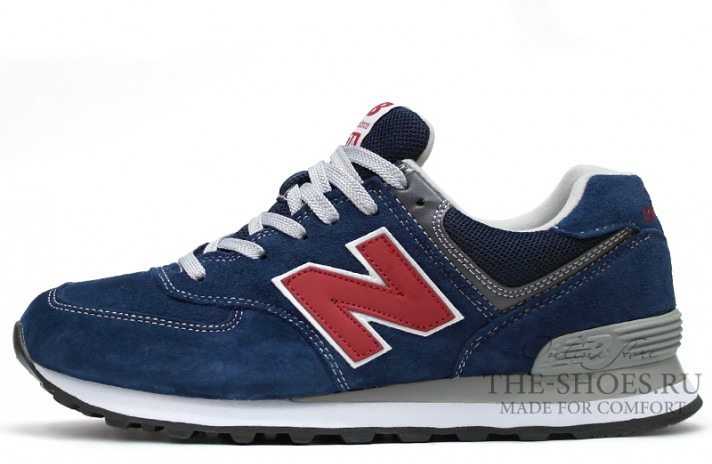 Кроссовки New Balance 574 Dark Blue Red Dual Gray
