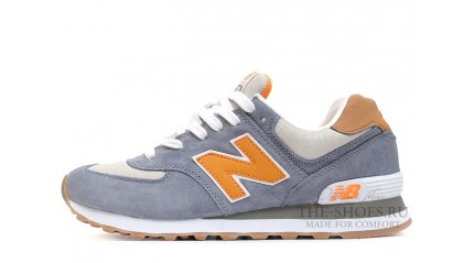574 КРОССОВКИ МУЖСКИЕ<br/> NEW BALANCE 574 PRM GREY WHITE ORANGE