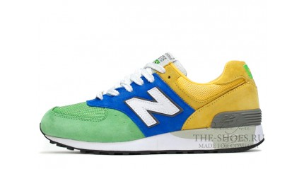New Balance 576 Green Blue Yellow White