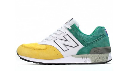 New Balance 576 Yellow White Green