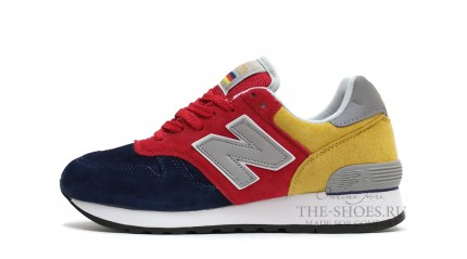 New Balance 670 Blue Red Yellow Gray