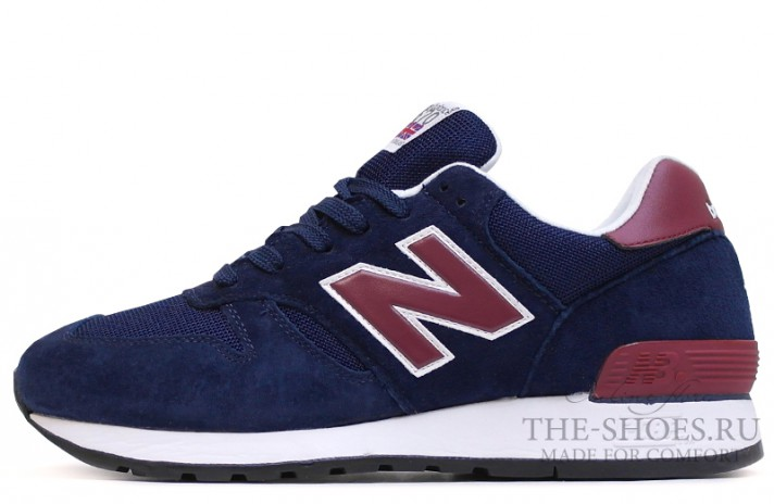Кроссовки New Balance 670 Dark Blue Burgundy White
