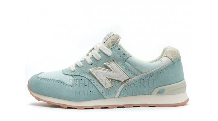 996 КРОССОВКИ ЖЕНСКИЕ<br/> NEW BALANCE 996 BLUE LIGHT BEIGE WHITE