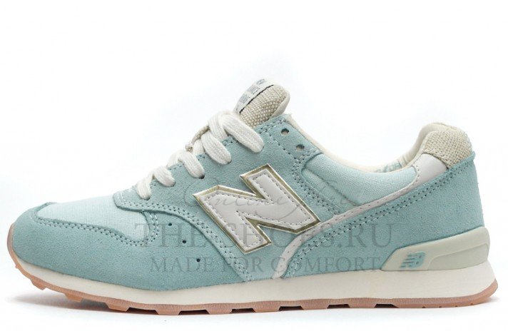 New Balance 996 Baby Blue Light Beige White голубые