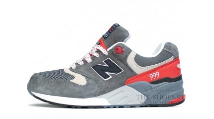 New Balance 999 Twin Grey White Red
