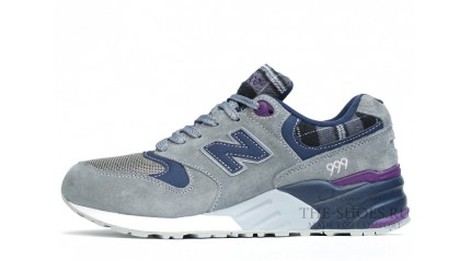 New Balance 999 Lt Grey Tweed Blue