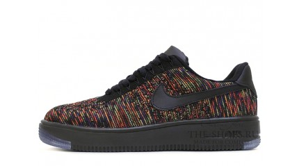 Nike Air Force 1 Low Flyknit Black Bright Crimson Court Purple