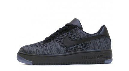 Nike Air Force 1 Low Flyknit Dark Grey Black