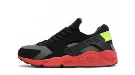 Nike Air Huarache Black Red Grey
