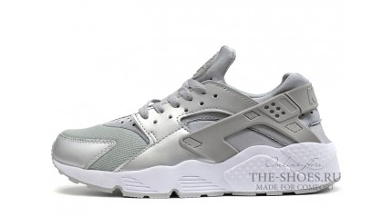 Huarache КРОССОВКИ МУЖСКИЕ<br/> NIKE AIR HUARACHE METALLIC SILVER GRAY