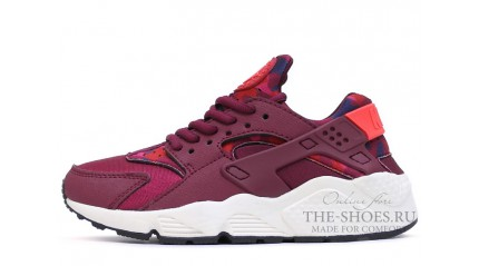 Nike Air Huarache Burgundy Camo White