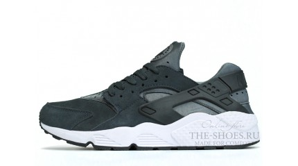 Huarache КРОССОВКИ МУЖСКИЕ<br/> NIKE AIR HUARACHE WET GREY SUEDE WHITE