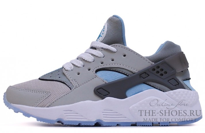 Nike Air Huarache Twin Grey White Blue серые