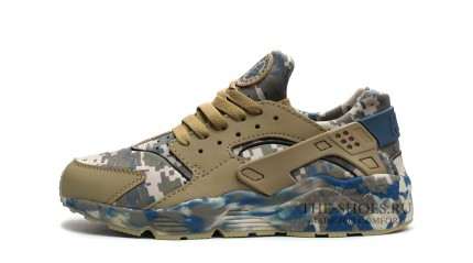 Huarache КРОССОВКИ МУЖСКИЕ<br/> NIKE AIR HUARACHE ARMY CAMO BLUE BEIGE