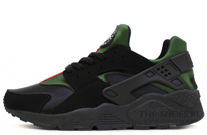 Nike Air Huarache Gucci Edition Black Green черные