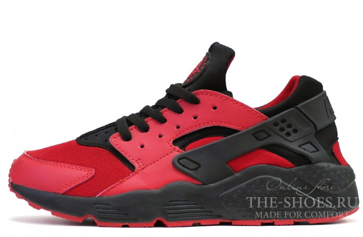Nike Air Huarache Love Hate Red Black красные
