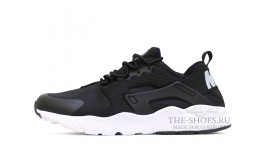 Nike Air Huarache Ultra Run Black White черные