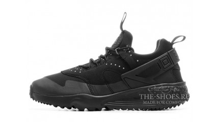 Huarache КРОССОВКИ МУЖСКИЕ<br/> NIKE AIR HUARACHE UTILITY BLACK FULL