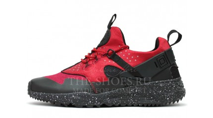 Huarache КРОССОВКИ МУЖСКИЕ<br/> NIKE AIR HUARACHE UTILITY RED BLACK OREO