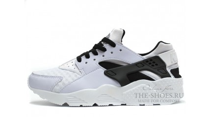 Huarache КРОССОВКИ МУЖСКИЕ<br/> NIKE AIR HUARACHE WHITE BLACK GRID