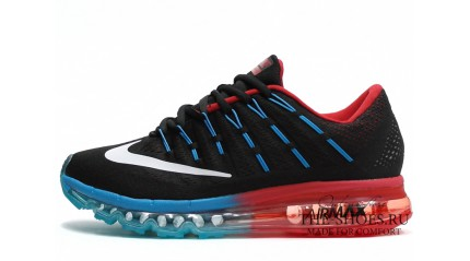 Air Max 2017 КРОССОВКИ МУЖСКИЕ<br/> NIKE AIR MAX 2016 BLACK GYM RED BLUE