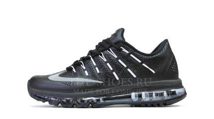 Air Max 2017 КРОССОВКИ МУЖСКИЕ<br/> NIKE AIR MAX 2016 BLACK GREY LEATHER