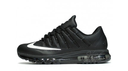 Air Max 2017 КРОССОВКИ МУЖСКИЕ<br/> NIKE AIR MAX 2016 TOP BLACK LEATHER