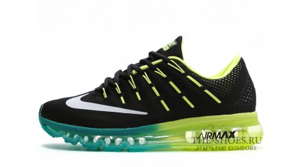Air Max 2017 КРОССОВКИ МУЖСКИЕ<br/> NIKE AIR MAX 2016 BLACK ACID LIME MINT
