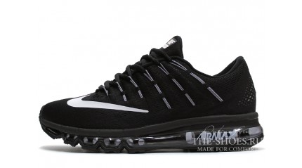 Air Max 2017 КРОССОВКИ МУЖСКИЕ<br/> NIKE AIR MAX 2016 BLACK WHITE GRAY