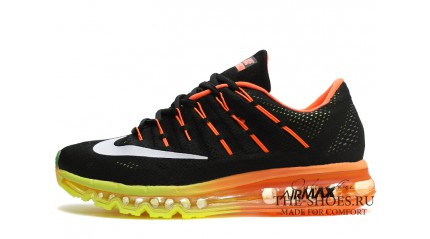Air Max 2017 КРОССОВКИ МУЖСКИЕ<br/> NIKE AIR MAX 2016 BLACK YELLOW ORANGE