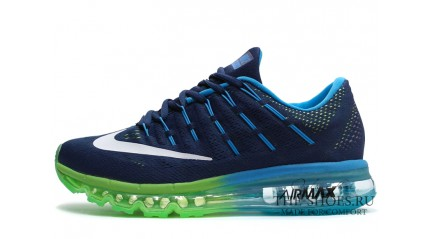 Air Max 2017 КРОССОВКИ МУЖСКИЕ<br/> NIKE AIR MAX 2016 ELECTRIC GREEN BLUE