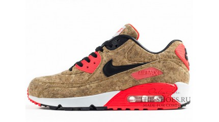 Air Max 90 КРОССОВКИ МУЖСКИЕ<br/> NIKE AIR MAX 90 CORK RED BLACK WHITE