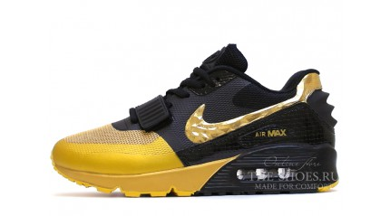 Air Max 90 КРОССОВКИ МУЖСКИЕ<br/> NIKE AIR MAX 90 YEEZY GOLD YELLOW BLACK