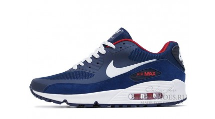 Air Max 90 КРОССОВКИ МУЖСКИЕ<br/> NIKE AIR MAX 90 HYP PRM BLUE WHITE RED
