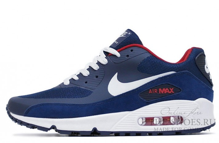 Nike Air Max 90 Hyperfuse (HYP) Premium Blue White Red синие