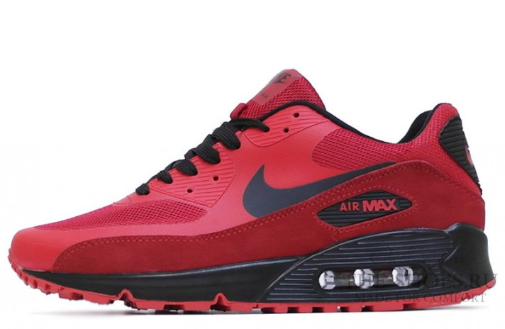 Nike Air Max 90 Hyperfuse (HYP) Premium Red Black красные