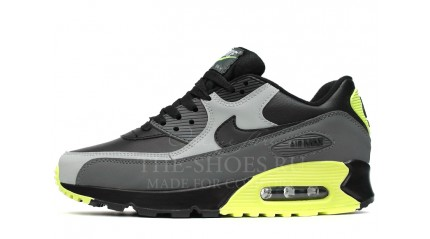 Air Max 90 КРОССОВКИ МУЖСКИЕ<br/> NIKE AIR MAX 90 LEATHER GRAY NEON BLACK