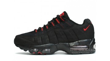 Кроссовки Мужские Nike Air Max 95 Red Black Suede