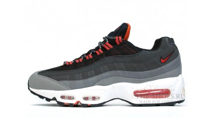 Nike Air Max 95 Wolf Grey Black Red