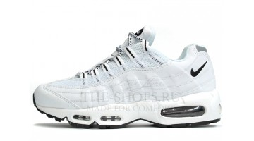 Кроссовки Мужские Nike Air Max 95 Pure White Leather