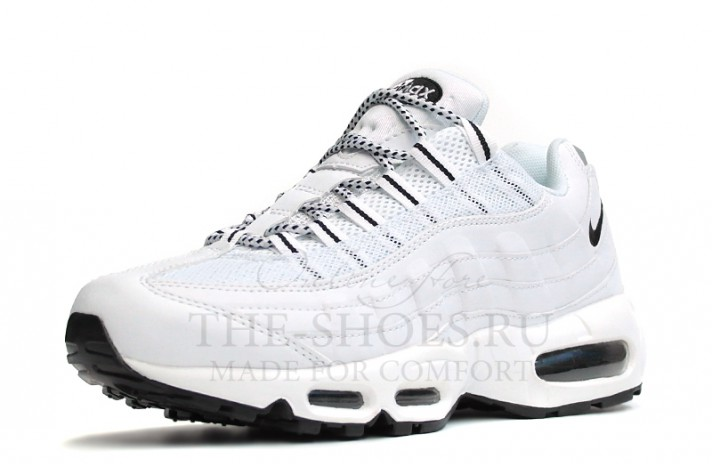 Nike Air Max 95 Pure White Leather белые кожаные, фото 2