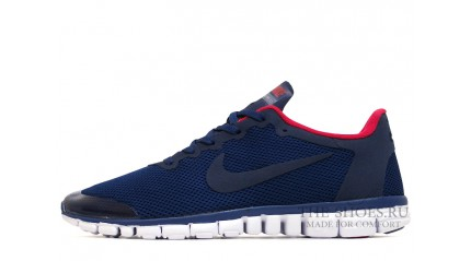 Free Run КРОССОВКИ МУЖСКИЕ<br/> NIKE FREE RUN 3.0 V2 DARK BLUE RED WHITE