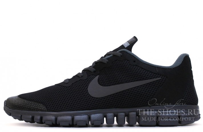 Nike Free Run 3.0 V2 Black Top черные