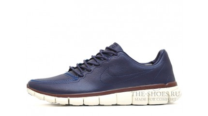 Free Run КРОССОВКИ MУЖСКИЕ<br/> NIKE FREE RUN 5.0 BLUE LEATHER WHITE