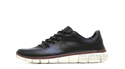 Free Run КРОССОВКИ MУЖСКИЕ<br/> NIKE FREE RUN 5.0 BLACK LEATHER WHITE