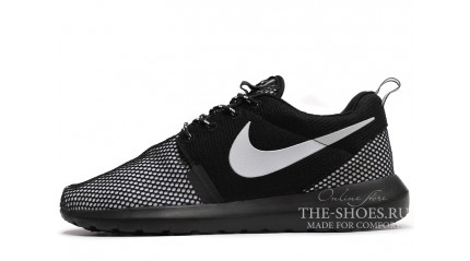 Roshe Run КРОССОВКИ МУЖСКИЕ<br/> NIKE ROSHE RUN NM BR BLACK WHITE