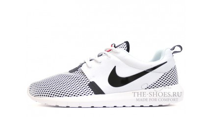 Roshe Run КРОССОВКИ МУЖСКИЕ<br/> NIKE ROSHE RUN NM BR WHITE BLACK