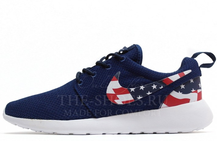 Nike Roshe Run USA Blue White синие